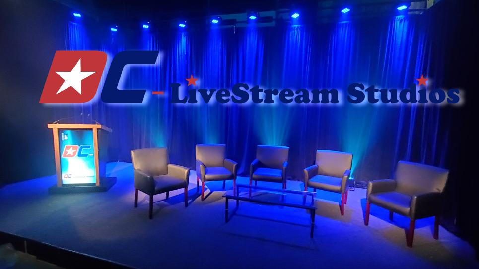 Washington DC Webcasting  Metro Area Business Meeting and Convention Live streaming Studio for the execution of conferences and live stream broadcasting worldwide.